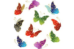 Beautiful art butterfly flying