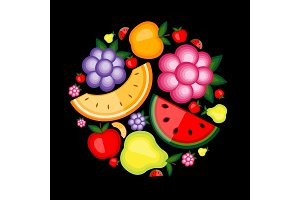 Energy fruit background for your