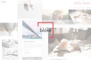 Blóke • Minimalistic | Complex Theme