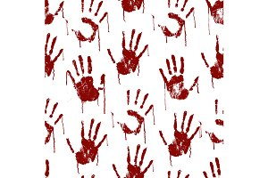 Bloody Scary Hands Imprint Pattern