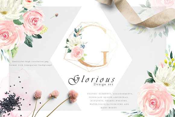 Floral Alphabet Design Set