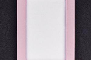 Mock up of a millennial pink frame