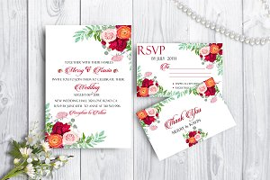 Wedding Stationary Mock-u PSD Files