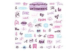 Ampersand vector amper lettering