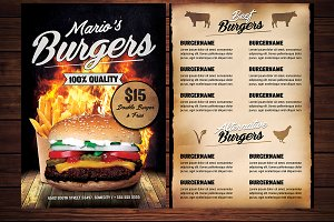 Food Burger Menu Flyer