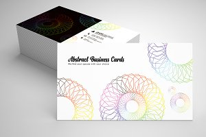 Abstract Contact Card Template 02