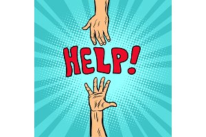 Helping hand, help and volunteering