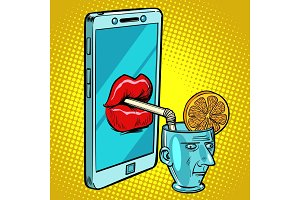Smartphone drinks human brain