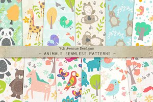 Animals Seamless Patterns