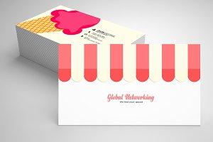 Ice Cream Business Card Template 05
