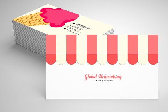 ice cream business card template 05 business card templates