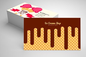 Ice Cream Business Card Templates 06