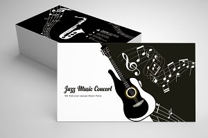 Jazz Music Business Card Template 07
