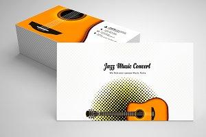 Jazz Music Business Card Template 08