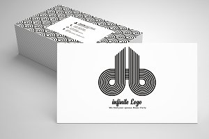 Infinite Abstract Business Card 09