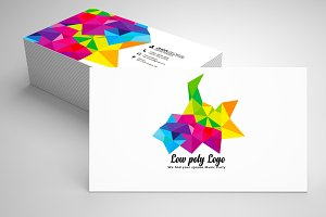 Abstract Low poly Business Card 10