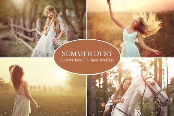 Summer Dust photo overlays