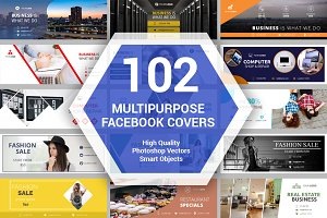 Facebook Cover Bundle 102 Templates