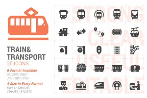 Train & Transport Filled Icon