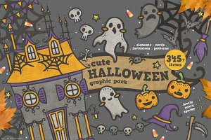 Cute Halloween Graphic Pack