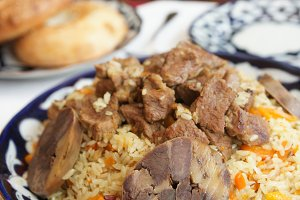 Traditional Middle Eastern pilaf