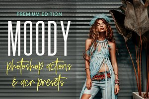 MOODY PHOTOSHOP ACTIONS ACR PRESETS