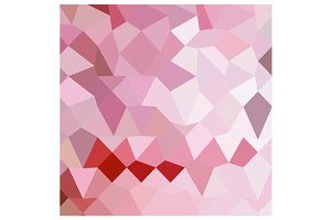 Cameo Pink Abstract Low Polygon Back