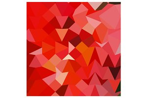 Candy Apple Red Abstract Low Polygon