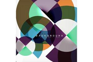 Minimal circle abstract background