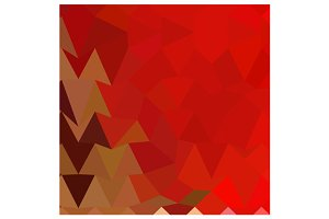 Coquelicot Red Abstract Low Polygon
