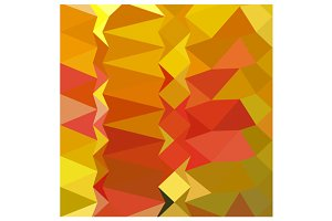 Golden Poppy Abstract Low Polygon Ba