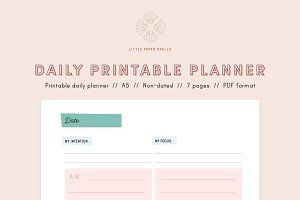 Daily planner printable - A5 PDF