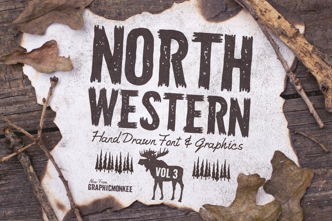 North Western Font Vectors Vol 3 Fonts Creative Market