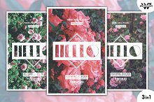 ROSES FLOWERS Flyer Template
