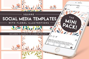 Social media templates-The Mini Pack