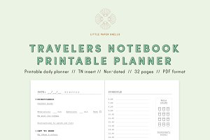 Printable daily planner - TN insert