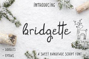 Bridgette script + woodland doodles