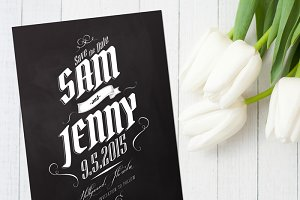 Chalkboard Wedding Save The Date