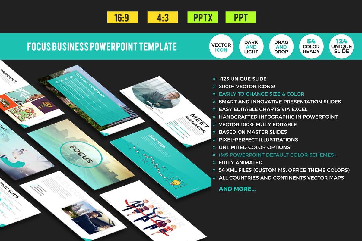 Focus Business Powerpoint Template Powerpoint Templates