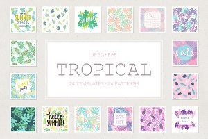 Tropical. Patterns, templates