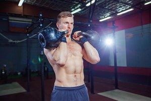 Cross training fit. Fitness man
