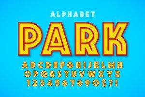 Hot summer display font design
