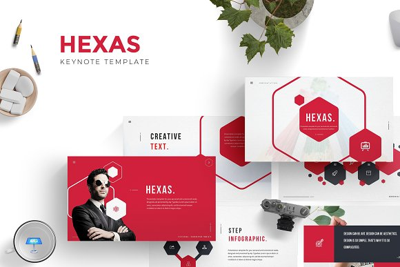 Hexas - Keynote Template in Keynote Templates