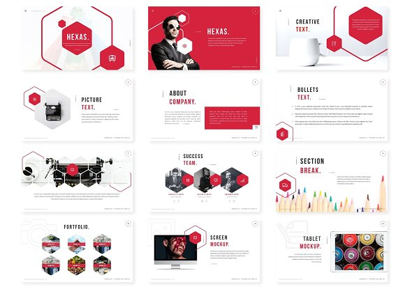 Hexas - Keynote Template in Keynote Templates - product preview 1