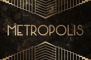 Metropolis Typeface