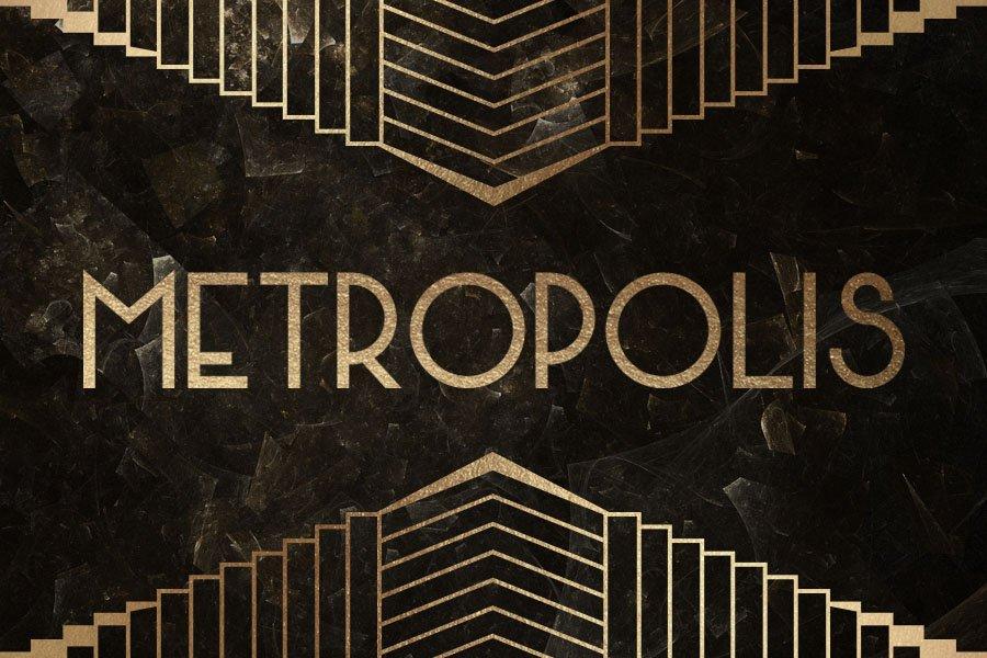 Metropolis Typeface Display Fonts Creative Market