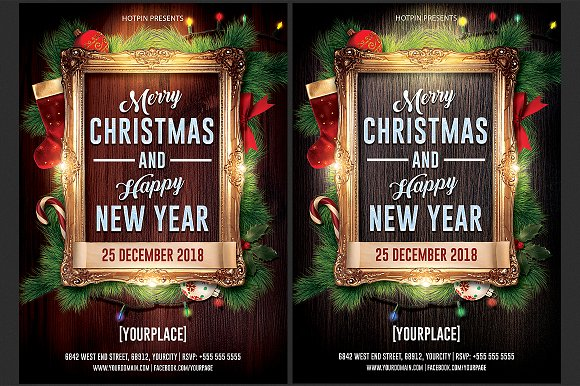 christmas new year flyer flyers