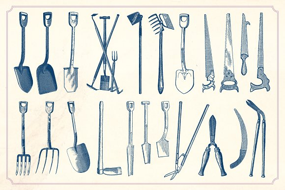 Dunia Belajar Vintage Garden Tools