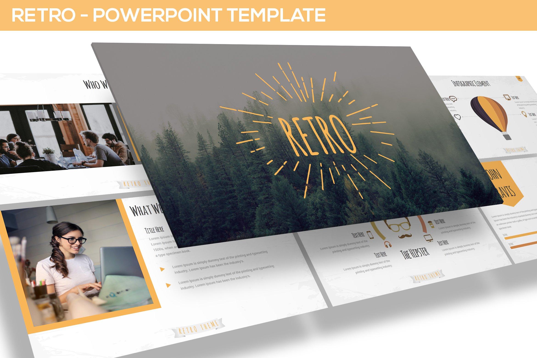 retro powerpoint template presentation templates creative market