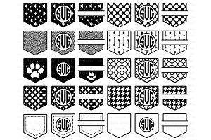 Pocket Monogram Patterns SVG files.